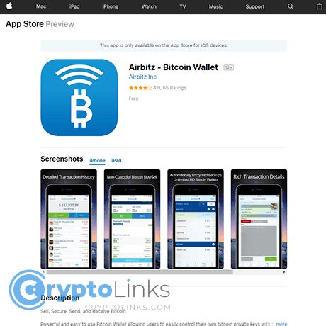 It allows trading between usd currency and bitcoin cryptocurrency. Airbitz - Bitcoin Wallet - Itunes.apple.com - iOS Crypto Wallet
