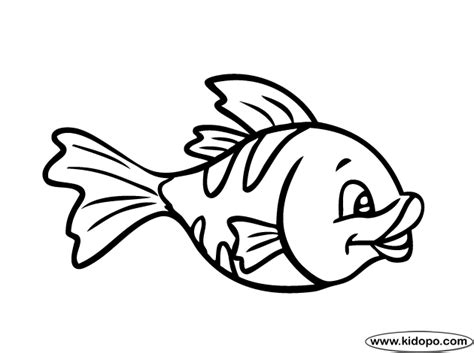 Cute Fish Coloring Page