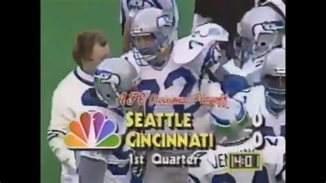 afc divisional seahawks  bengals youtube