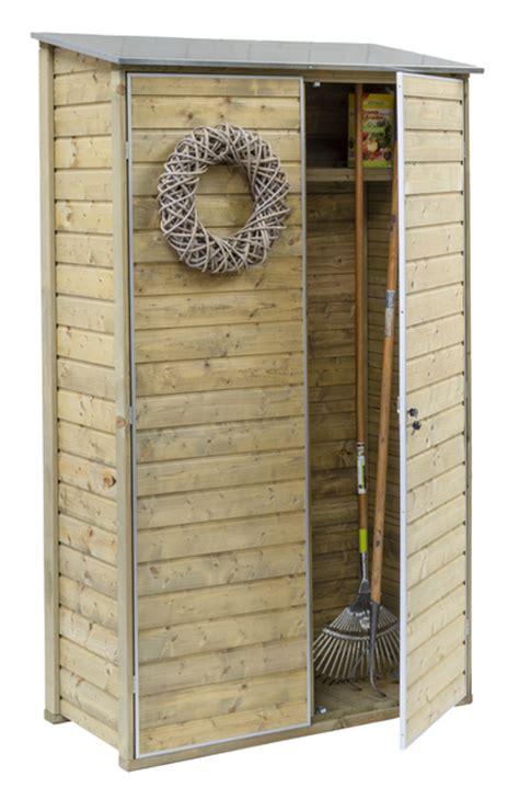 tuinkast hout gamma outdoor products muurkast fsc met vloer en zinken dak