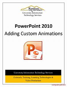 Pdf  Powerpoint 2010 Custom Animations Free Tutorial For