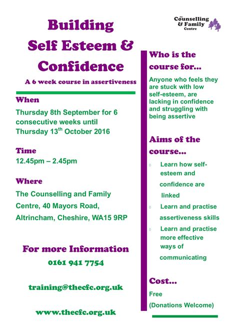 The Counselling Family Centre Events And Courses