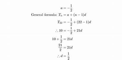 Formula Infinite Arithmetic Sum Sequences Siyavula Sequence