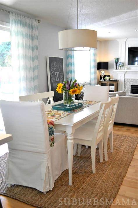 lighten  dinner time    white dining room tables