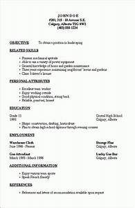 Basic resume outline template learnhowtoloseweightnet for Basic resume outline
