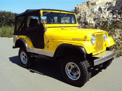 cj jeep yellow buy new 1966 jeep cj5 tuxedo park yellow with black soft