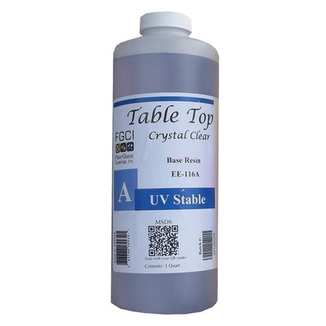 clear epoxy for table tops table top epoxy crystal clear uv stable resin quart