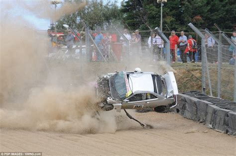 Brands Hatch Witnessed Spectacular Crash As Andrew Bourke