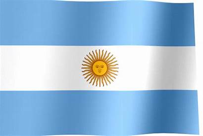 Argentina Flag Waving Animated Flags National