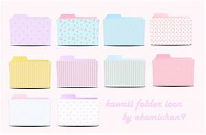 Cute Folder Icon Set By Akamichan9 by akamichan9 on DeviantArt
