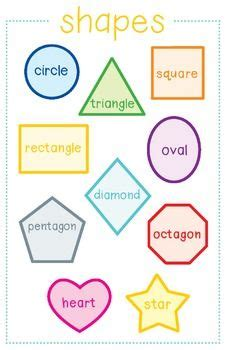 shape posters preschool learning shape posters