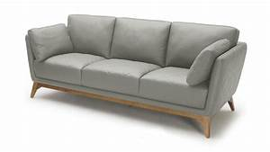canape 3 places mysen cuir mobilier moss With canape bois cuir