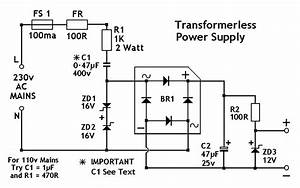 Easy Circuit Lab  Low Voltage Power Supply Without Transformer