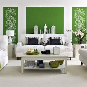 Wandfarbe Grau Grün : wohnzimmer ideen wandgestaltung gr n ~ Michelbontemps.com Haus und Dekorationen