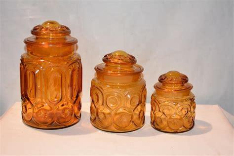 vintage glass canisters kitchen lot 3 antique vintage depression glass canister