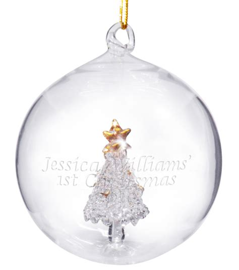 personalised christmas baubles 1st christmas gifts