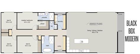 rectangular house plans modern  home plans design
