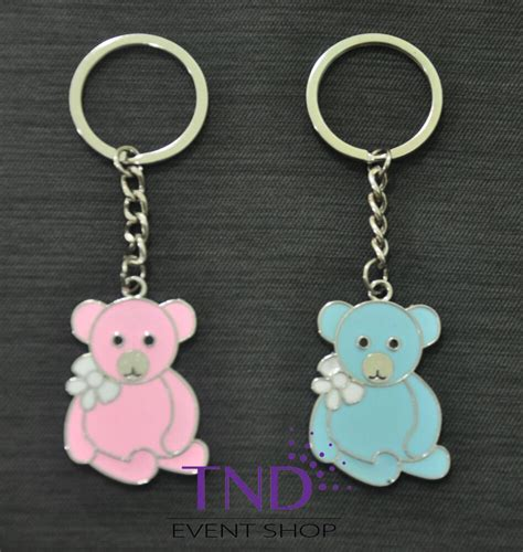 baby shower keychains 12 pack teddy key chain favor gift for baby shower