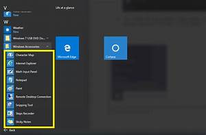 Access Windows Accessories Tools In Windows 10