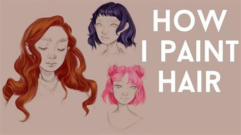 digital hair painting tutorial youtube