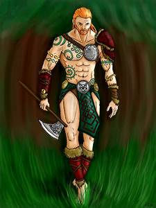Celtic Warrior with colors by Darksigfried on DeviantArt