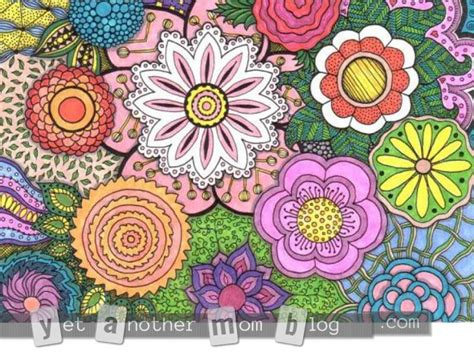 coloring pages  adults zentangle flowers