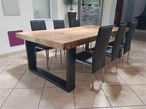 Table En Pin Massif : meuble industriel table de salle manger en pin massif 8 ~ Teatrodelosmanantiales.com Idées de Décoration
