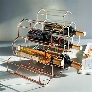 Nordic, Creative, Geometric, Wine, Rack, Metal, Simple, Household, Grape, Wine, Rack, Restaurant, Living
