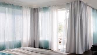 Bed Bath And Beyond Sheer Curtains by Ikea Curtain Cope With Corners