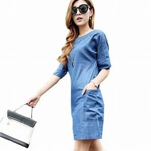 Vetement Femme Rock Chic : robe jean femme vetement chic ambre mariage ~ Melissatoandfro.com Idées de Décoration
