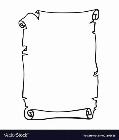Scroll Paper Parchment Drawn