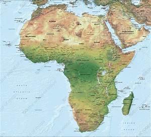 Digital Physical Map Africa 1288