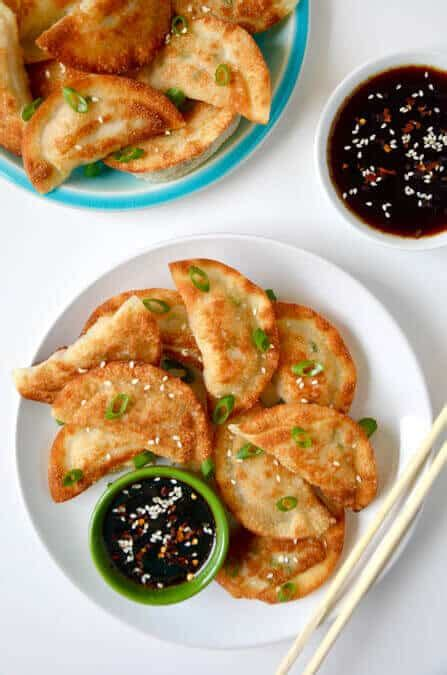 easy chicken potstickers  soy dipping sauce   taste