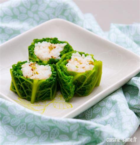 cuisine chou vert recette sans gluten maki de chou vert cuisine