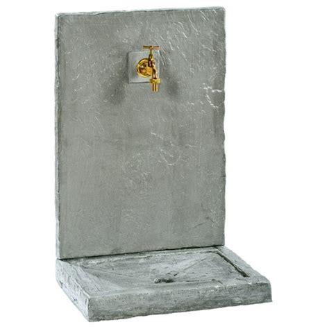 fontaine murale en fontaine murale 64cm pm ardoisee zinc en reconstitu 233 e 018240
