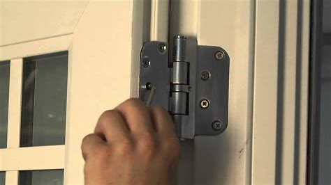 hinge adjustments  premium atlantic vinyl swinging patio door youtube