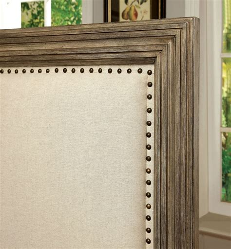 furniture  america antler  ash wood fabric headboard