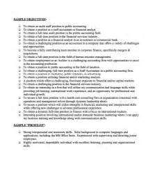 finance resume objective statements exles resumes design