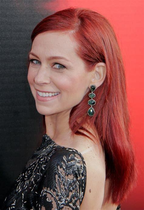 carrie preston wearing  deep red hair
