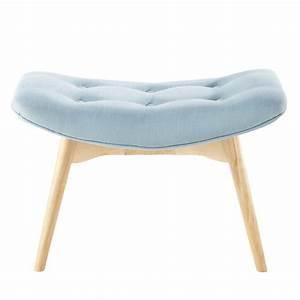 Pouf Sur Pied : pouf repose pieds vintage en tissu bleu iceberg maisons ~ Teatrodelosmanantiales.com Idées de Décoration