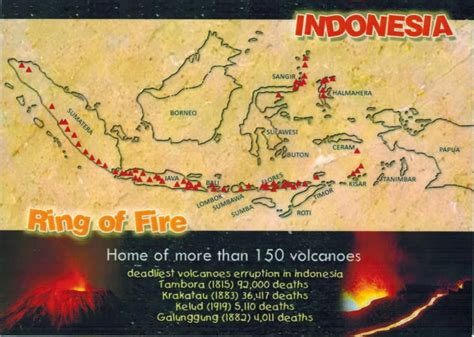 map cards hunting  indonesia ring  fire
