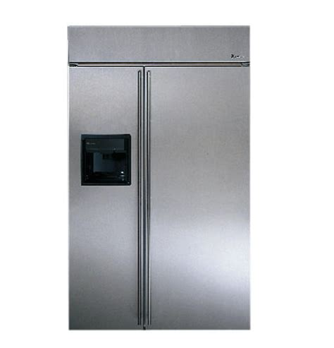 zissdcss ge monogram  built  stainless steel side  side refrigerator  black