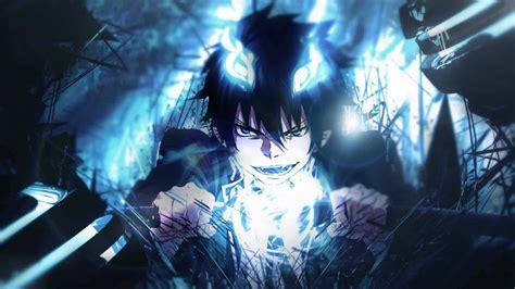 Blue Wallpaper Anime - wallpaper anime blue exorcist okumura rin darkness