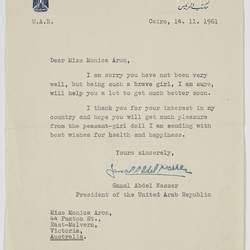 letter from ceo national doll circa 1961 22849 | 424355 thumbnail