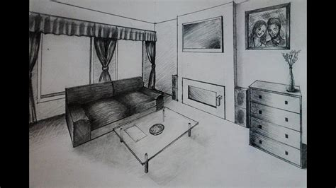 draw living room  fireplace  point