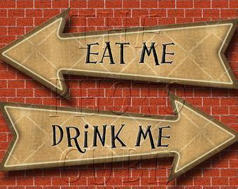 set   drink  eat alice  wonderland hang tags