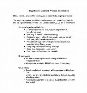 sample cleaning proposal template 9 free documents in pdf With office cleaning proposal letter