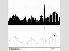 United arab emirates black and white clipart