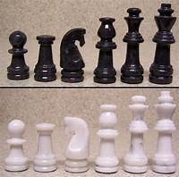 "marble chess pieces Chess Set with Marble 16"" Board & Black and White Pieces 3 ..."