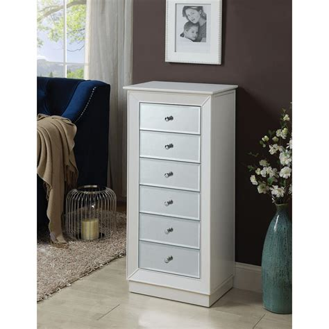 White Armoire by Acme Furniture Talor White Jewelry Armoire 97171 The